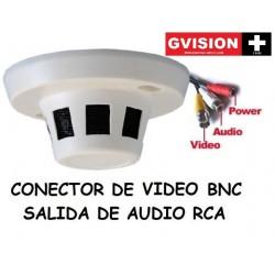 Camara Seguridad Espia Tipo Detector de  Humo 1/3 Ccd