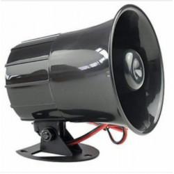 Sirena para cerco Electrico 12v Negra