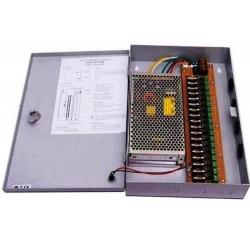 Fuente centralizada 12 Volt 20 amp 18 canales para Camaras de Seguridad